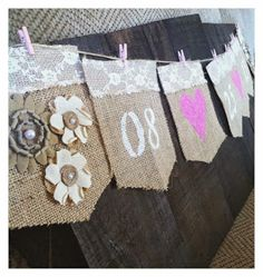 DIY Lace & Burlap Save the Day Wedding Banner
