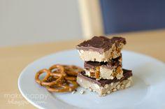 Peanut butter pretzel chocolate bars