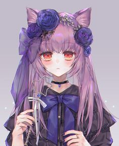 Ảnh Anime �ẹp (3) - Anime Girl Purple Hair