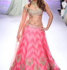 Bridal Pink Lehenga Designs For Indian Brides 2015-16