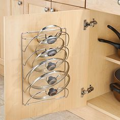 Take a look at this Classico Cabinet Lid Rack today! Kitchen Pantry Design, Kitchen Organization Pantry, Kitchen Cabinet Storage, Modern Kitchen Design, Home Decor Kitchen, Interior Design Kitchen, Kitchen Furniture, Home Organization, Home Kitchens