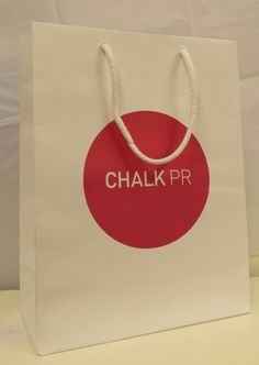 Eco friendly carrier bags for chalk pr