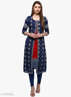 Kurtis & Kurtas Divena Women's Trendy Casual Kurti Fabric: Kurti - Rayon, Attached Jacket - Cotton Sleeves: Sleeves Are Included Size : XS,S,M,L,XL,XXL,3XL,4XL,5XL,6XL,7XL,8XL,9XL,10XL (Refer Size Chart) Type: Stitched Description: It Has 1 Piece Of Kurti With Attached Jacket Work: Printed Sizes Available: XS, S, M, L, XL, XXL, XXXL, 4XL, 5XL, 6XL, 7XL, 8XL, 9XL, 10XL, Free Size *Proof of Safe Delivery! Click to know on Safety Standards of Delivery Partners- https://ltl.sh/y_nZrAV3  Catalog Rating: ★4.4 (659)  Catalog Name: Divena Women's Trendy Casual Kurtis CatalogID_13917 C74-SC1001 Code: 137-140828-