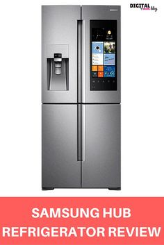 """SAMSUNG HUB REFRIGERATOR REVIEW - Make the kitchen the center of your home. Family Hub helps you manage  your home and your life, with Food Management, Family Connection and Entertainment  capabilities – all controlled from a 21.5"""" Wi-Fi enabled touchscreen on a beautiful 4-Door Flex Refrigerator."""