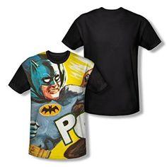 Batman Classic TV On The Chin All Over Print Youth Black Back T-Shirt