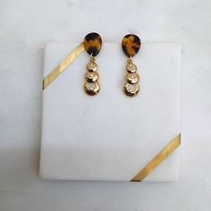 Excited to share this item from my #etsy shop: Tortoise Teardrop Stud Gold Circle Diamante Shape Fashion Dangle Earrings Handmade - Statement Earrings - Resin Acetate - Tortoise Earring Statement Earrings, Dangle Earrings, Earrings Handmade, Resin, Dangles, Shapes, Etsy, Drop Earrings
