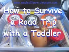 Playing to Learn: Tips and activities to survive a long road trip (like to Disney World) with a toddler. Please note the comment about the safety issue with the towel and its workaround.