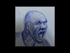 RESİM ÇİZİMLERİ  GÖRSEL SLAYT VİDEO mavi tükenmez kalem çizimleri