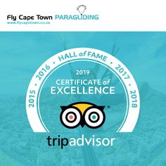 We are happy to announce that Fly Cape Town Paragliding has received a TripAdvisor 2019 Certificate of Excellence. This is our 5th year in a row!  And it is all because of you, the people who support us and continue to journey with us through the skies. THANK YOU! Paragliding, Cape Town, Certificate, The Row, Trip Advisor, Journey, Social Media, Happy, People