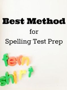 The best way to study for this Friday's spelling test