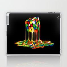 Rainbow Abstraction melted rubix cube Laptop & iPad Skin @pointsalestore #society6 #laptop #skin #case #Painting #Popart #Abstract #Vintage #Rubic #Rubix #Cube #Fullcolor #Rainbow #Retro #Classic #Toys #Bazinga #Sheldoncooper #BigBangTheory #Games #RubiksCube