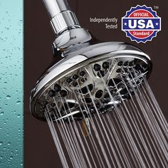 AquaDance Premium High Pressure 6-setting 5-Inch Shower Head for the Ultimate Shower Spa Experience! Officially