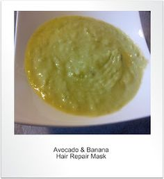 Purple Essentials - Natural Skin Care for a pure and simple life!: Avocado & Banana Hair Repair Mask