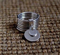 Ring in silver Marc Deloche