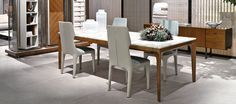 Giorgetti, made in Italy: Anteo table, project by Carlo Colombo.