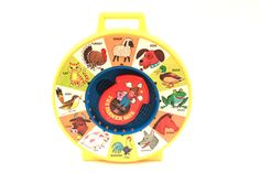 Vintage 1970s Baby See N Say - Fisher Price Baby Activity Toy - Old McDonald Animal Sounds Working Baby Toy Infant Learning  Pink Room  by ThePinkRoom