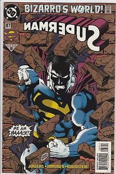 "Superman #87 DC Comics Mar 1994 Bizarro's World #1 ""Me Am Back"" lol"