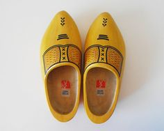 Vintage Dutch Wooden Shoes by vaporqualquer on Etsy