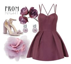 """""""prom night"""" by jasemin2607 ❤ liked on Polyvore featuring JustFab, Cara, Chi Chi and Lido Pearls"""