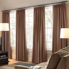 Window Coverings - Idea for Living Room-like this for my livingroom windows