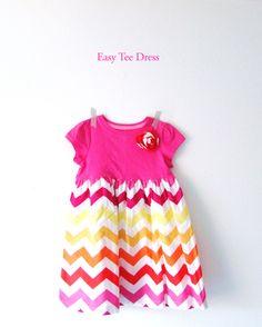 An Easy Kid's T-shirt Dress Tutorial | francoisetmoi.com