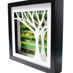 Tree Shadow Box...But of course my love is the ocean so I would maybe do a dolphin or a sea turtle.