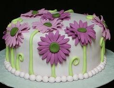 gerber daisy cake  that would be  a cute birthday cake for me ;)  lol