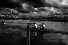 rowing race dark and intimidating
