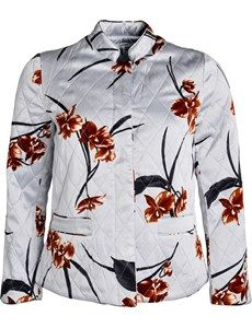 Sanders quilltet blomstret satin jakke. Satin jacket from Danish Ganni at YouHeShe.com