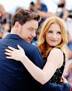 McAvoy and Jessica Chastain