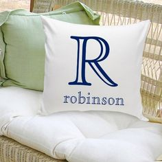 Personalized Family Initial Monogram with Last Name Decorative Throw Pillow Gift Personalized Family Gifts, Personalized Pillow Cases, Custom Pillow Cases, Personalized Wedding, Unique Gifts For Couples, Gifts For Family, Toss Pillows, Decorative Throw Pillows