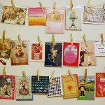 postcard display...I've been collecting for the past 3 years :)