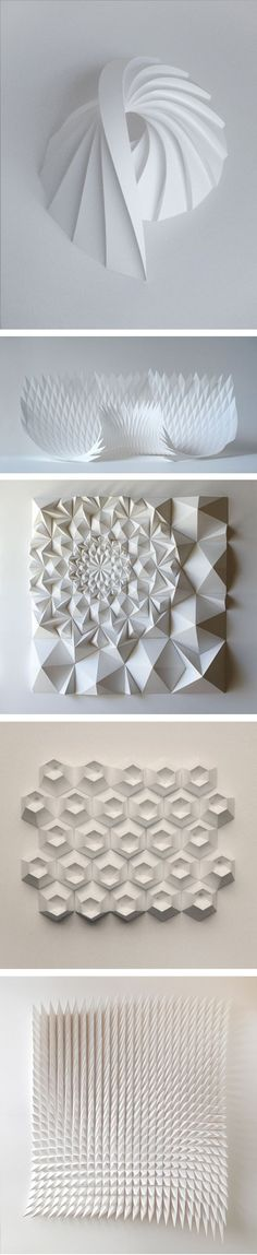 Beautiful paper sculptures... see them moving in the videos in despiertaymira.com