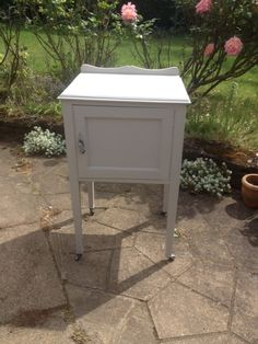 My Farrow & Ball painted pot cupboard, in Purbeck Stone.