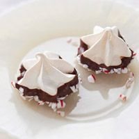 Chocolate-Peppermint Meringue Kisses,  This is Christmas in a cookie!