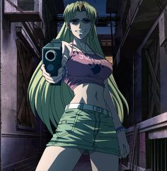 hi, long time since I uploaded banners, hellsing is over and I have no more banners of that anime, and the truth is that there are not many animes that . Black Lagoon The Second Barrage Revy Black Lagoon, Black Lagoon Anime, Anime Toon, Manga Anime, Anime Art, Character Art, Character Inspiration, Character Design, Retro Aesthetic
