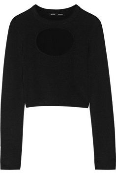 Proenza Schouler - Cutout Silk-blend Sweater - Black