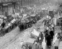 And you thought traffic was bad today! Orchard Street on Manhattan's Lower East Side becomes a scene of chaos after a heavy snow storm left parts of the city a huge mess in 1926.
