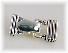 Fold over Magnetic clasps 2 hole clasps bright silver smooth finish 7242 - Mobile Boutique