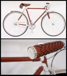 The Brogue bike, covered in the finest tanned Italian leather with brown diamond encrusted sterling silver handle bars retails at £25,000