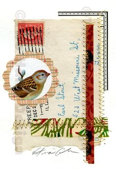 I have some spring shows coming up and I sell not only my stationery products, but also some original artwork. Here are a few collages on pa...
