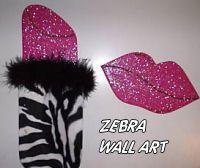 hot pink zebra print wall decorations