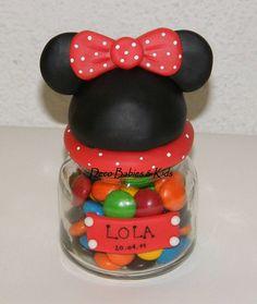 dulcero Minie Mouse Party, Minnie Mouse Theme Party, Fiesta Mickey Mouse, Baby Mickey Mouse, Mickey Party, Mouse Parties, Disney Candy, Mickey E Minie, Pots