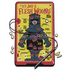 Flesh Wound Operation game/Monty Python and the Holy Grail mashup Operation Game, Monty Python, Geek Out, Thats The Way, Cool T Shirts, Nerdy Shirts, Make Me Smile, Geek Stuff, Kid Stuff