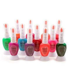 Foolzy Pack of 12 Two Way Neon Nail Art Paint Polish With Pen