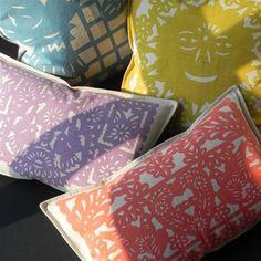 Thomas Paul Reversible Banner Violet Cotton Pillow