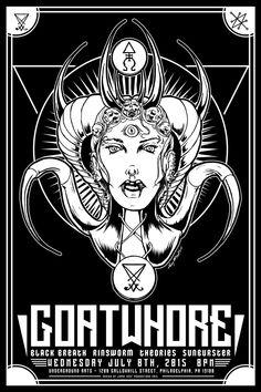 Goatwhore 2015 Gig Poster - Philadelphia by luvataciousskull.deviantart.com on @DeviantArt