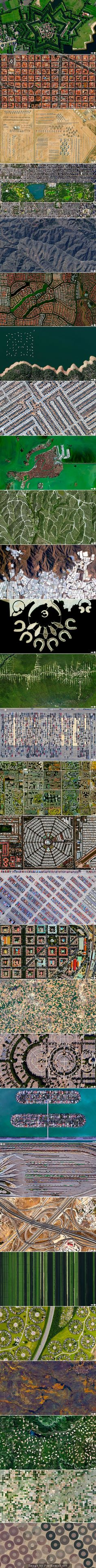 Aerial views - So sad how humanity has crowded into horrible box shapes
