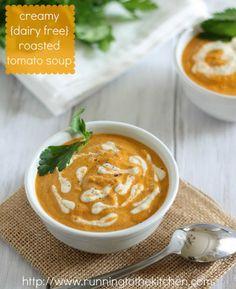 Creamy {dairy free} Roasted Tomato Soup