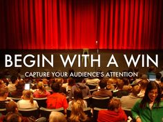 "@Michelle Mazur 's Haiku Deck, ""Begin With A Win"", teaches you how to capture your audience's attention from the very start of your #presentation."